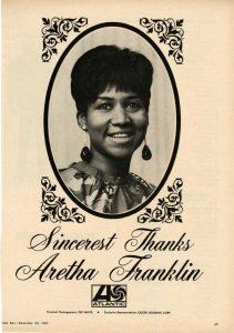 Aretha Franklin. Courtesy Detroit Historical Society