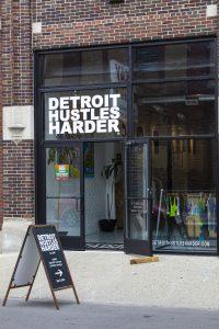 Detroit Hustles Harder in Eastern Market as seen From outside. Photo: John Bozick