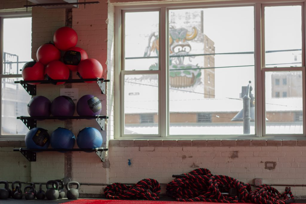 Eastern Market is ever-present as seen from the second floor of Jabs Gym.