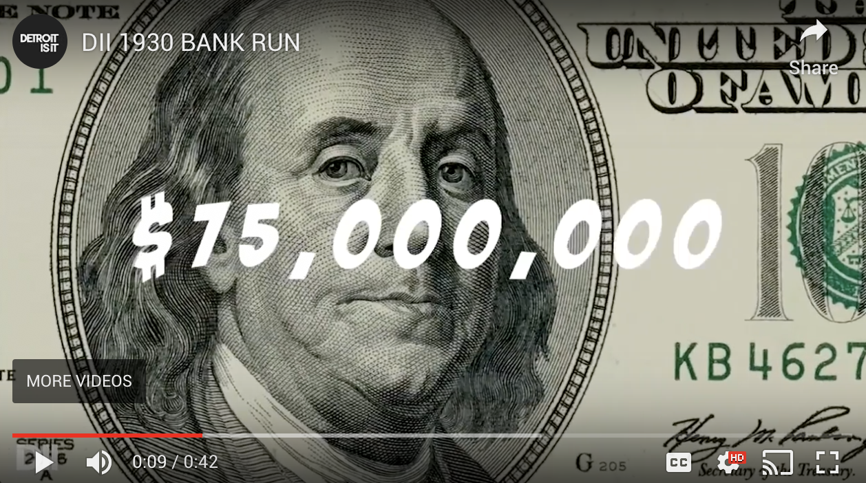 The 1930 Bank Run Hit Detroit Hard. Find Out How Hard 1