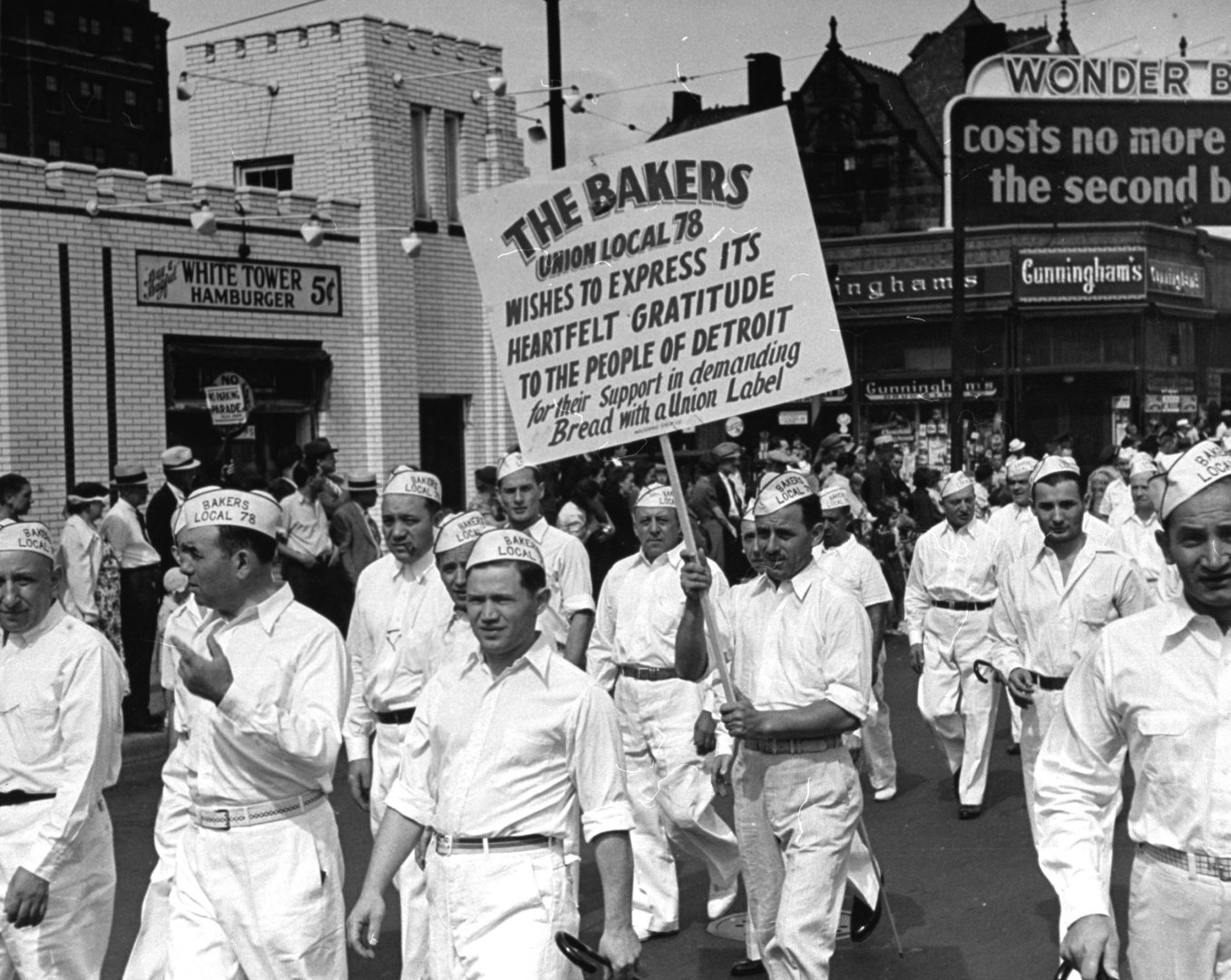 The Bakers Union marching through the Labor Day Parade | Photo by John