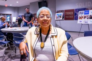 DEBRA WALKER, TREASURER OF THE CORKTOWN BUSINESS ASSOCIATION, IS A LONGTIME CORKTOWN RESIDENT AND ADVOCATE FOR THE NEIGHBORHOOD. PHOTO ACRONYM