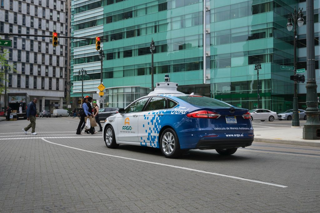 FORD MOTOR COMPANY SELF-DRIVING CARS SEEN ON DETROIT'S CITY STREETS