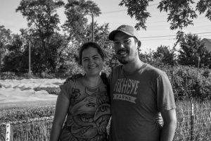 Amy Eckert and Andrew Chae, the founders of Fisheye Farms. Photo Simon Albaugh