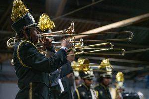 MLK JR HIGH SCHOOL MARCHING BAND. PHOTO AMI NICOLE / ACRONYM