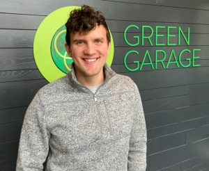 MATTHEW PIPER OF THE GREEN GARAGE. PHOTO BY THE GREEN GARAGE.