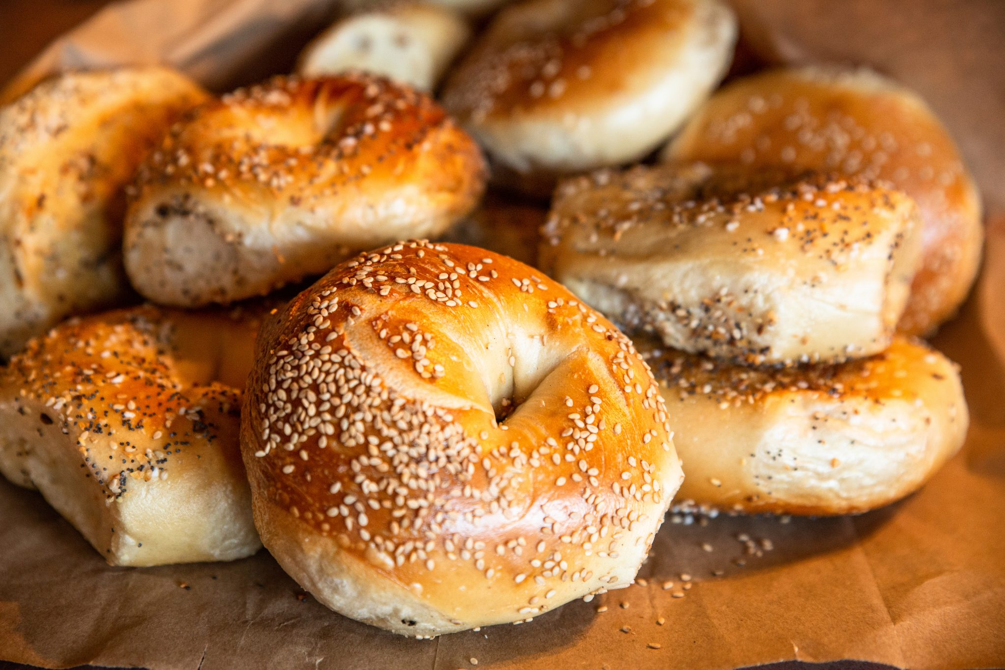NATIONAL BAGEL DAY BAGELS. ADOBE STOCK VIA ACRONYM