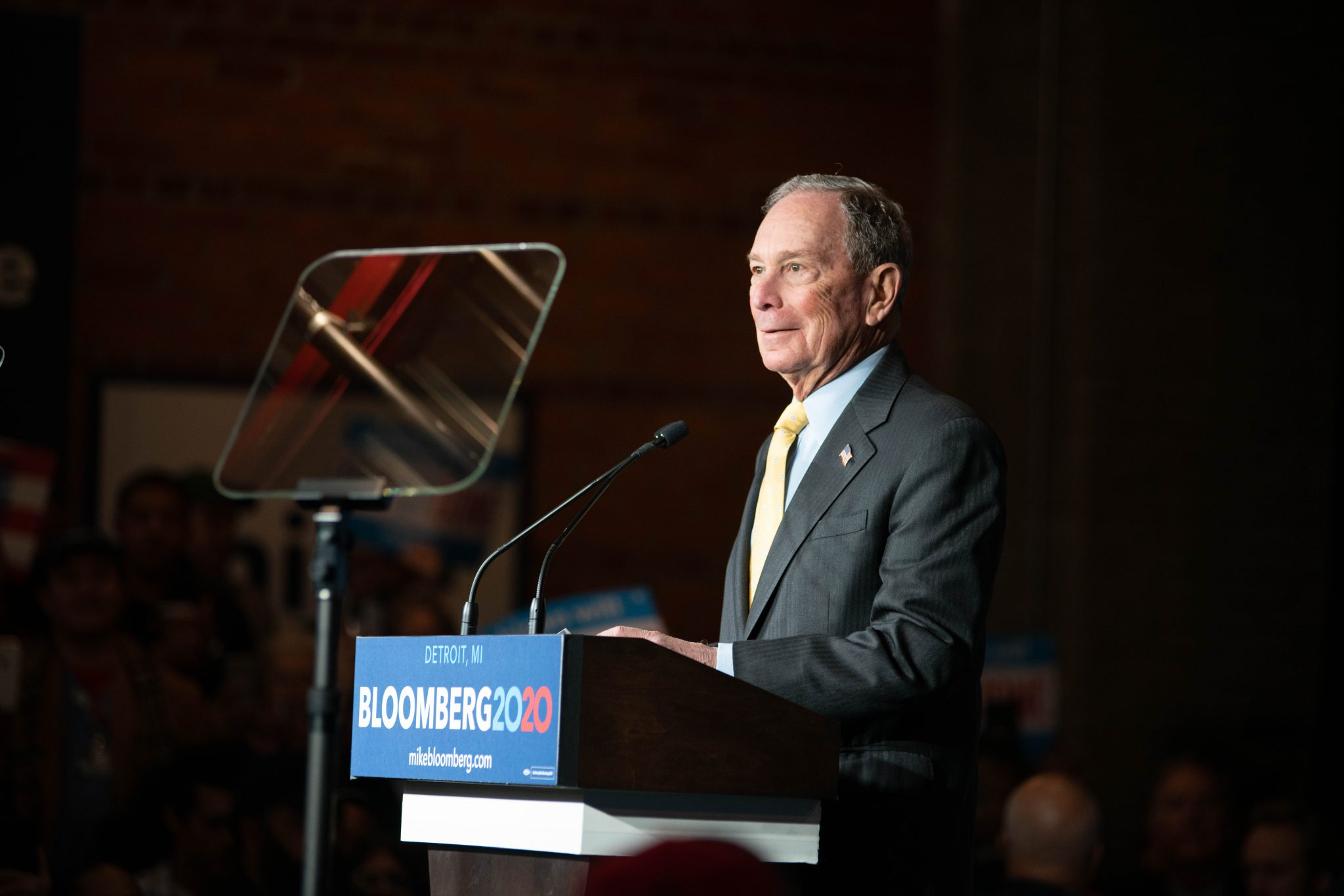 MIKE BLOOMBERG AT THE EASTERN. PHOTO AMY NICOLE / ACRONYM