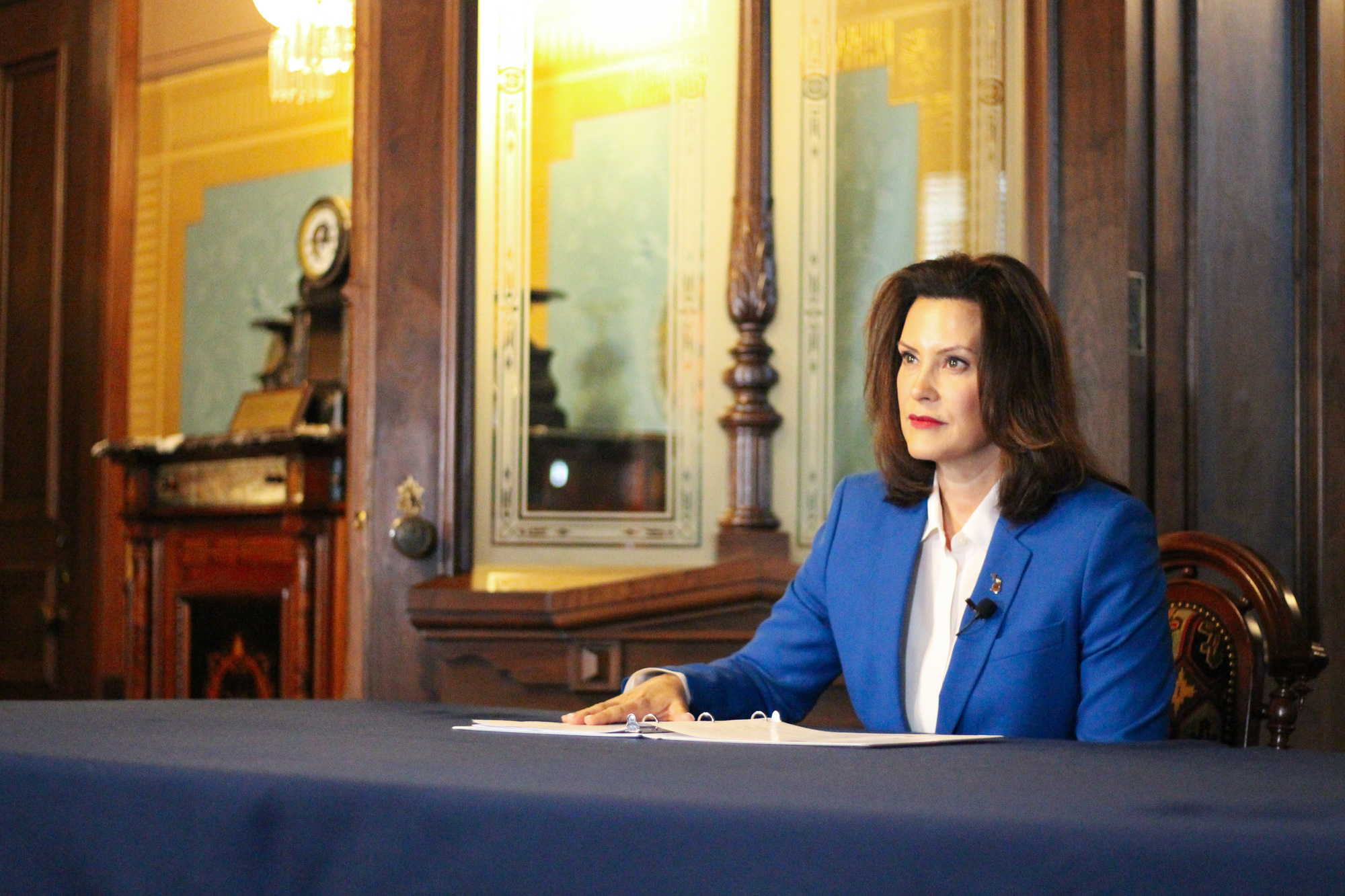 MICHIGAN GOVERNOR GRETCHEN WHITMER PROPOSED NEW CORONAVIRUS AID.