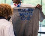 DETROIT PISTONS ELECTION WORKER'S. PHOTO CHRIS SCHWEGLER/DETROIT PISTONS