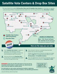 Plan SATALITE VOTING CENTERS IN DETROIT. PHOTO CITY OF DETROIT