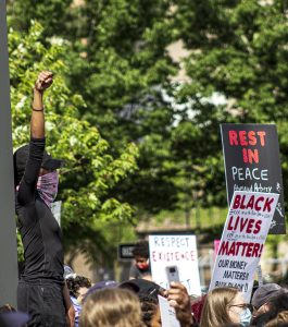 A BLACK LIVES MATTER DEMONSTRATION IN DETROIT. PHOTO JOHN BOZICK