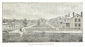 AN 1884 DRAWING OF FORT WAYNE.