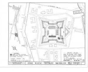 AN ORIGINAL MAP OF FORT WAYNE.