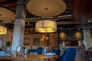 THE DINING AREA OF OAK & REEL. PHOTO JOHN BOZICK