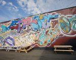 SHADES GRAFFITI MURAL; JAZZ FEST