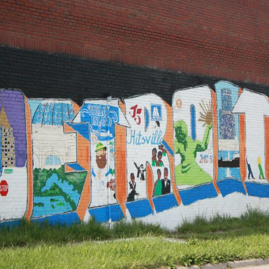 MURAL IN NORTH END DETROIT; OAKLAND AVENUE; PHOTO EMILY FISHER