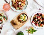 PLATED FOOD AND DRINK AT SHINOLA HOTEL; SAN MORELLO; EEBERGER