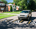 Speed humps in the City of Detroit