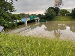 FLOODING ON I94 PHOTO LAUREN BRADLEY