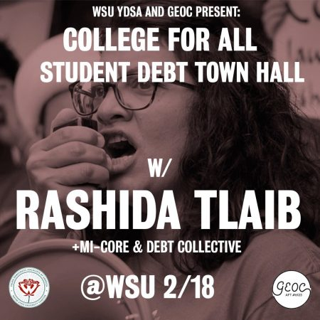 Student Debt A FLYER FOR THE EVENT CREATED BY THE GRADUATE EMPLOYEES ORGANIZING COMMITTEE AND WAYNE STATE YDSA.