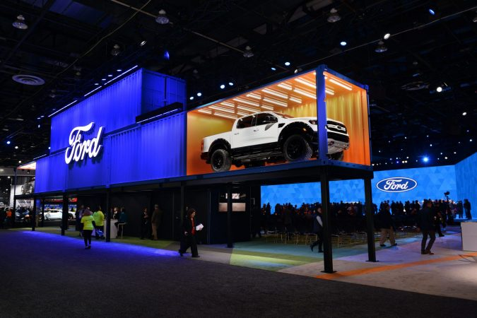 motor bella // THE FORD STAND AT THE 2019 NORTH AMERICAN INTERNATIONAL AUTO SHOW. PHOTO NAIAS