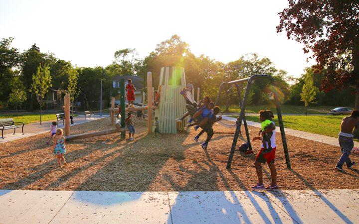 public space // DETROIT PLAYGROUND, FITSGERALD PLAYSPACE; GREG SIEMAS