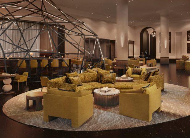THE DAXTON HOTEL LOBBY. RENDERING BY APARIUM HOTEL GROUP