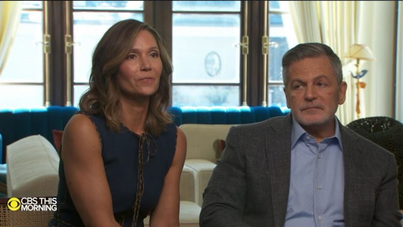 A SCREENSHOT OF DAN GILBERT AND HIS WIFE JENNIFER DURING THEIR INTERVIEW ON 'CBS THIS MORNING.'