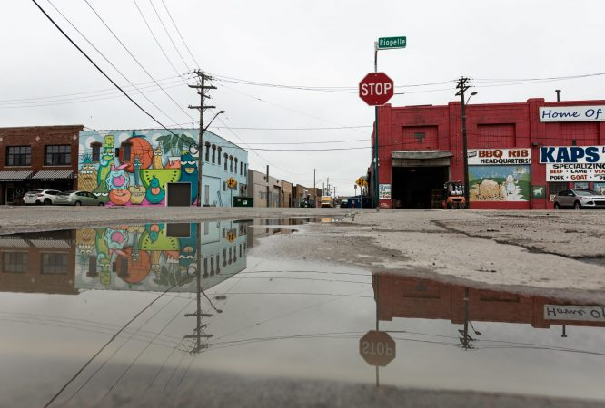 STORMWATER MANAGEMENT STANDING WATER IN EASTERN MARKET. PHOTO THE NATURE CONSERVANCY
