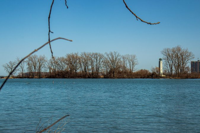 BELLE ISLE'S BLUE HERON LAGOON AND THE WILLIAM LIVINGSTONE MEMORIAL LIGHTHOUSE ARE PICTURED. PHOTO JOHN BOZICK