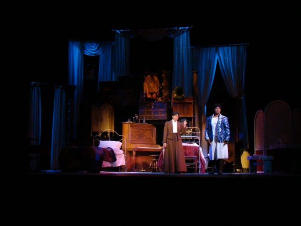 Theaters INDIGO COLBERT (L) AND BRIDGETTE JORDAN (R) PERFORMING INTIMATE APPAREL, BY LYNN NOTTAGE AT WSU BONSTELLE THEATRE