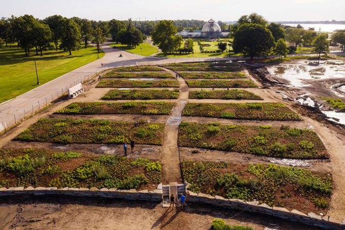 THE OUDOLF GARDEN UNDER DEVELOPMENT IN BELLE ISLE. PHOTO COURTESY OF RYAN SOUTHEN PHOTOGRAPHY