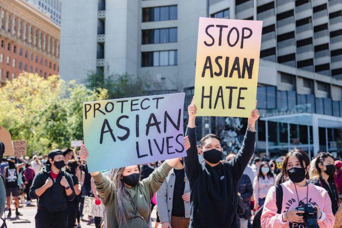 STOP ASIAN HATE, CELEBRATE AAPI HERITAGE ;PHOTO JASON LEUNG ; UNSPLASH