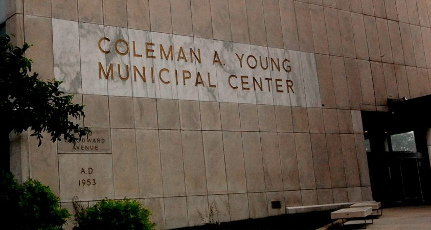COLEMAN A. YOUNG MUNICIPAL CENTER IN DOWNTOWN DETROIT